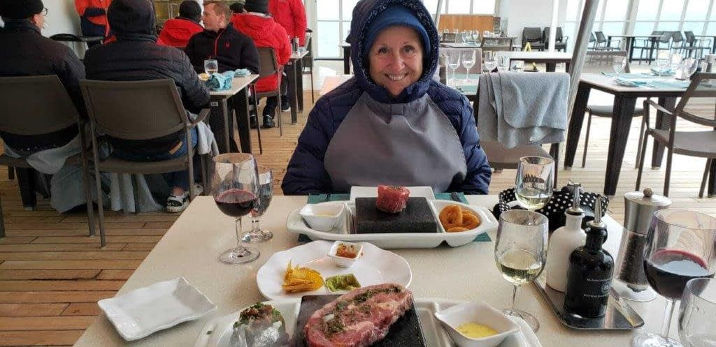Outdoor Dinner at The Grill, Silver Cloud, Antarctica