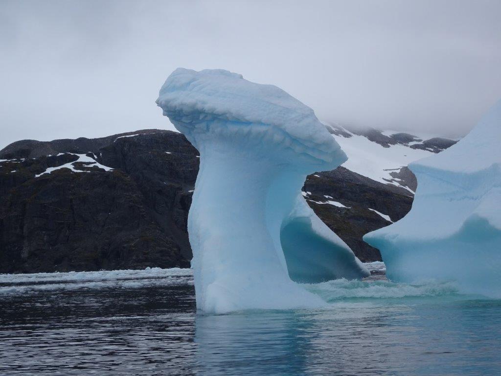 Toadstool-shaped Iceberg, Cerva Cove, Antarctica