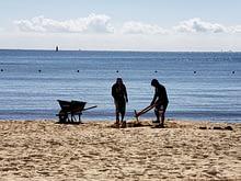 Workers Repair Beach, Hacienda Tres Rios, Playa del Carmen, Mexico