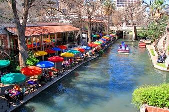 River Walk with Boats, San Antonio, Texas