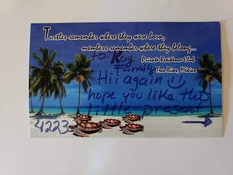Gift From Reyna Card Front, Hacienda Tres Rios, Playa del Carmen, Mexico