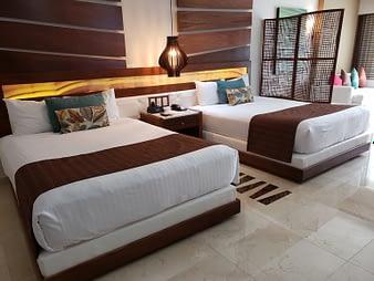 Room Beds, Hacienda Tres Rios, Playa del Carmen, Mexico