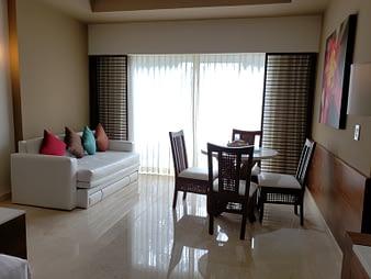 Room Sofa and Dining, Hacienda Tres Rios, Playa del Carmen, Mexico