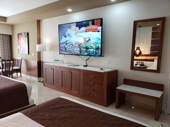 Room TV, Hacienda Tres Rios, Playa del Carmen, Mexico