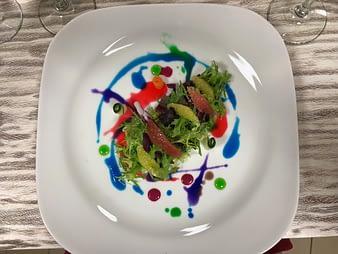 Salad, Chef's Table, Hacienda Tres Rios, Playa del Carmen, Mexico