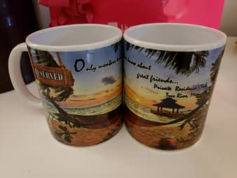 Welcome Gifts Mugs, Hacienda Tres Rios, Playa del Carmen, Mexico