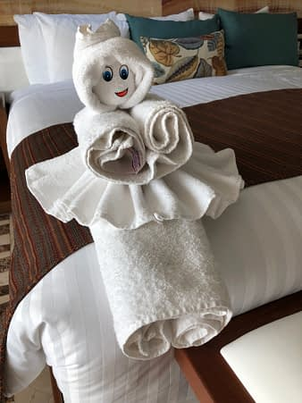 Towel Sculpture Girl, Hacienda Tres Rios, Playa del Carmen, Mexico