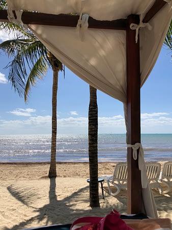 View From Beach Bed, Hacienda Tres Rios, Playa del Carmen, Mexico