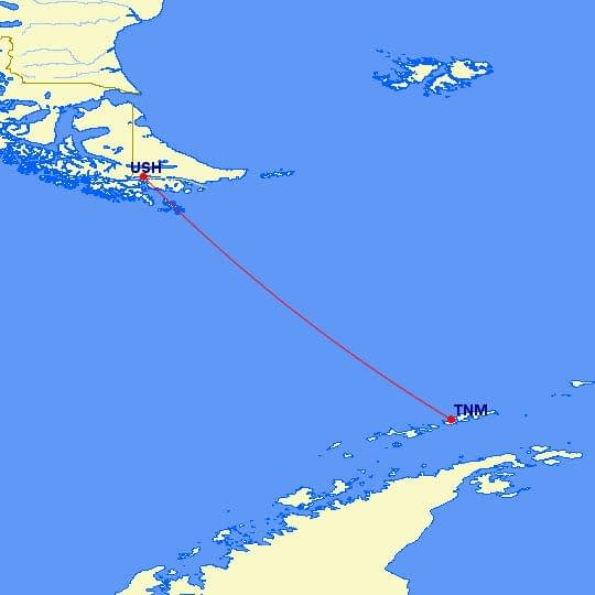 Ushuaia, Argentina, to South Shetland Islands, Antarctica