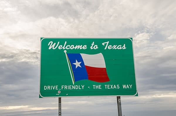 Road Sign, Welcome to Texas