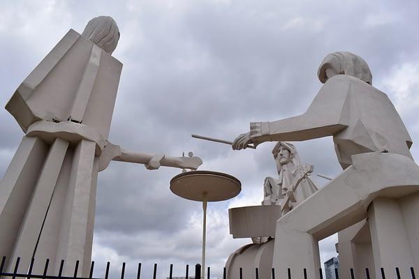 Beatles Statues Street View, David Adickes, 8th Wonder Brewery, Houston, Texas