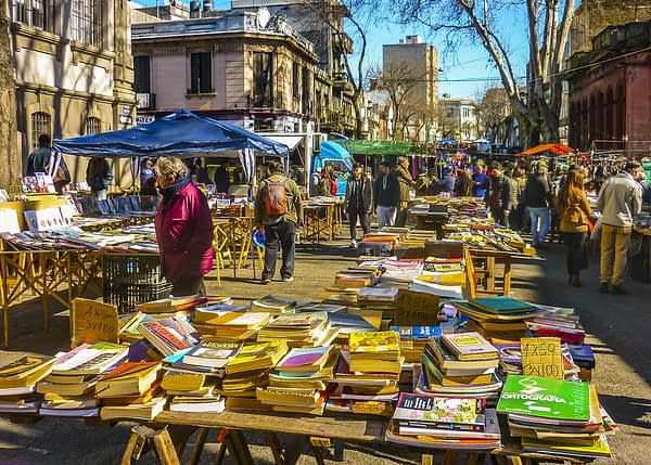 Tristan Narvaja Fair Street, Montevideo, Uruguay