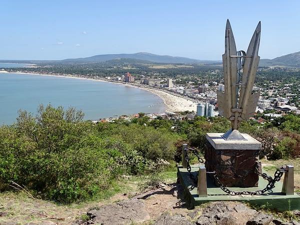 View of Beach and City from Cerro San Antonio, Piriápolis, Uruguay