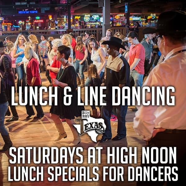 Lunch and Line Dance, Billy Bob's, Fort Worth, Texas