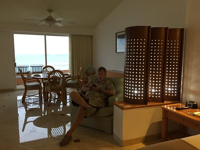 Paul in Room, Sunset Fishermen, Playa del Carmen, Mexico