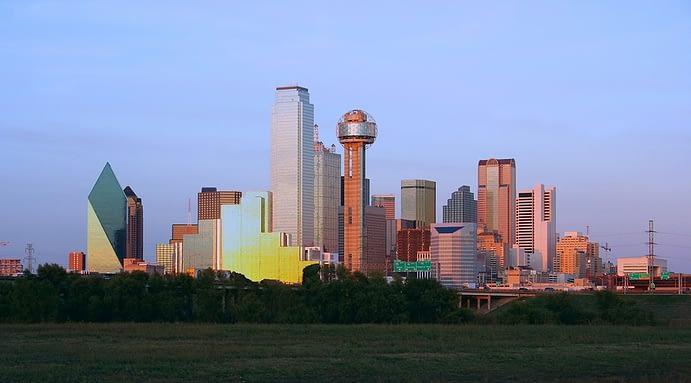 Skyline at Sunrise, Dallas, Texas