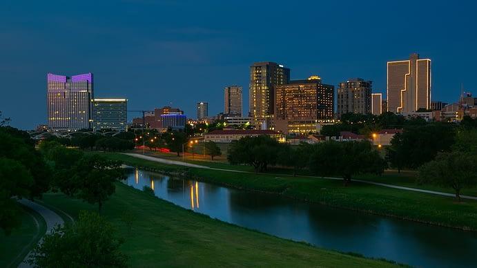 Skyline at Night, Fort Worth, Texas