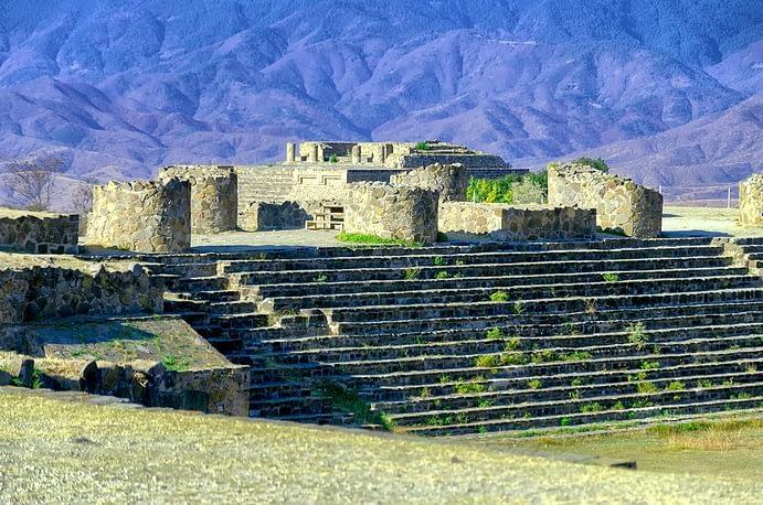 Monte Alban Sunken Patio Ruins, Oaxaca, Mexico