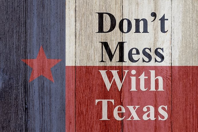 Sign, Don't Mess With Texas Flag