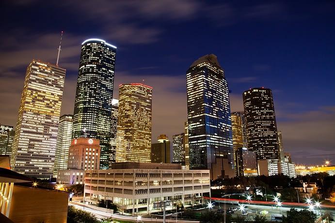 Skyline at Night, Houston, Texas