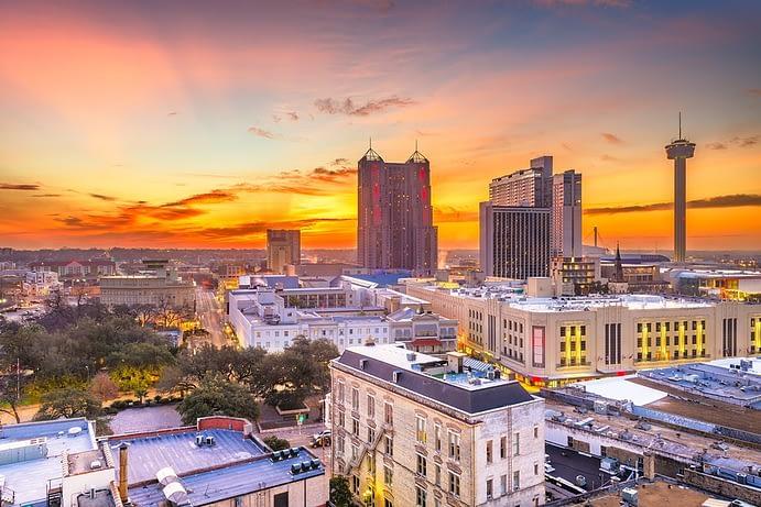 Skyline at Sunset, San Antonio, Texas