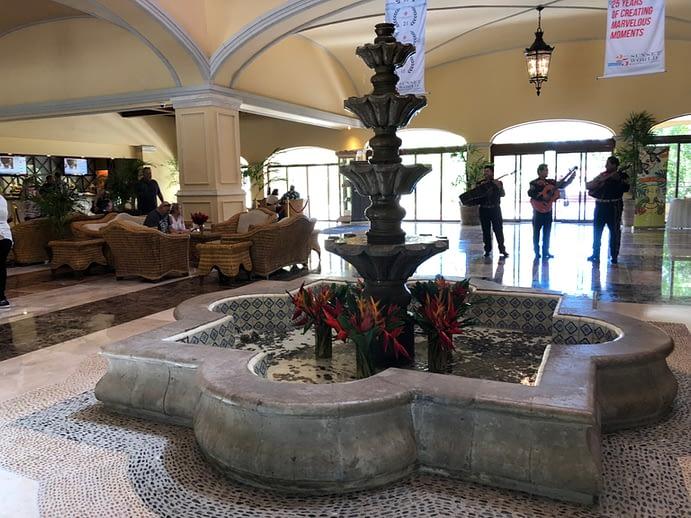 Lobby Fountain and Mariachi, Hacienda Tres Rios, Playa del Carmen, Mexico