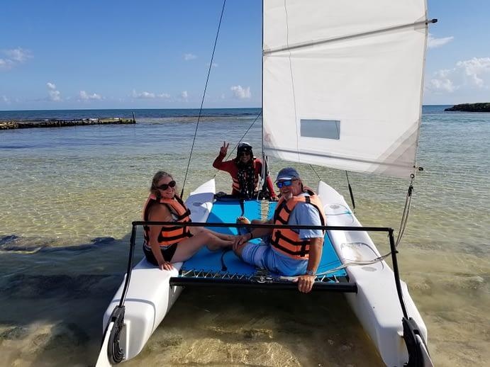Madeline and Paul Sailing, Hacienda Tres Rios, Playa del Carmen, Mexico