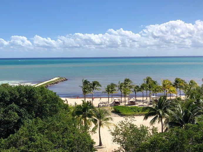View of Beach From Balcony, Hacienda Tres Rios, Playa del Carmen, Mexico