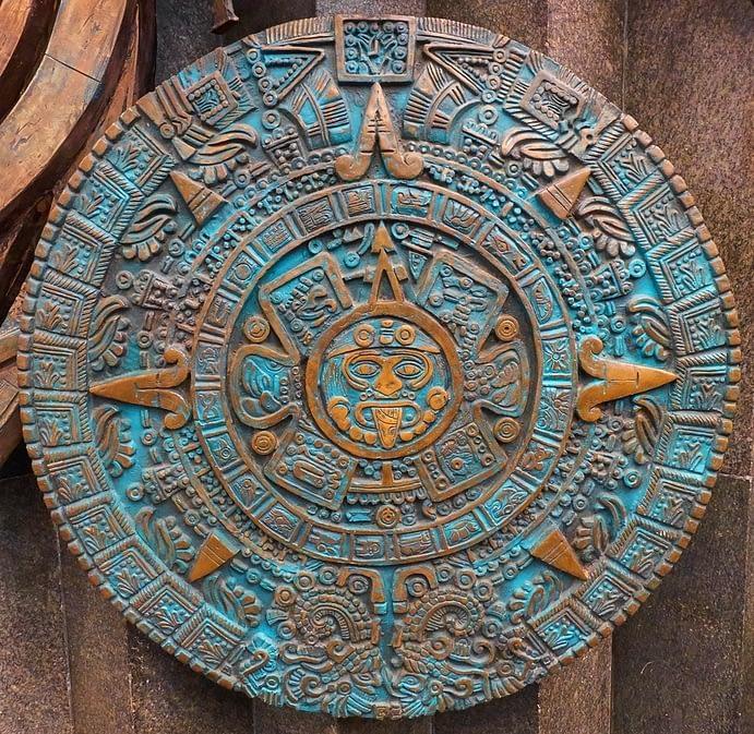 Bronze Aztec Calendar Round, Mexico