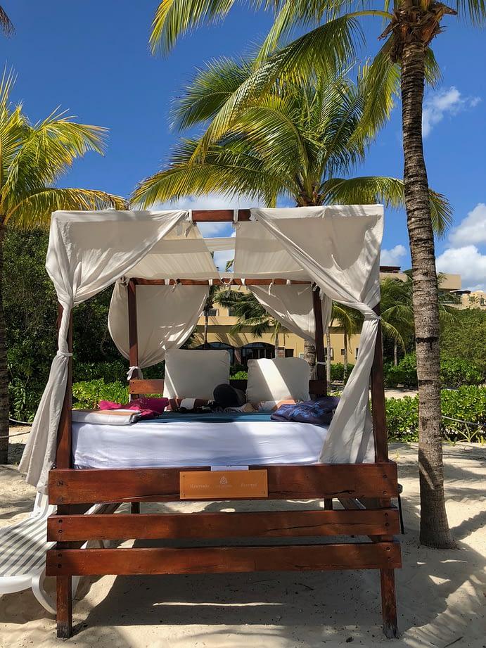 Beach Bed, Hacienda Tres Rios, Playa del Carmen, Mexico