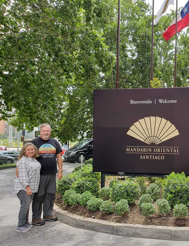 Paul and Madeline, Mandarin Oriental Hotel, Santiago, Chile