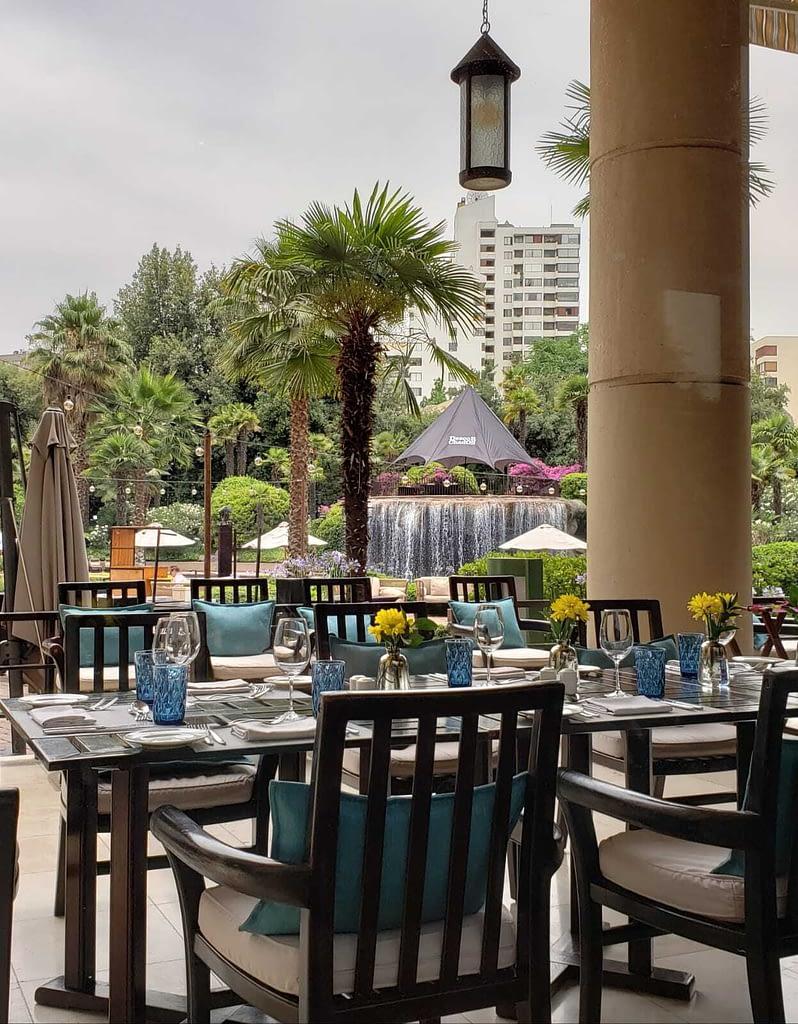 Garden and Waterfall, Senso Restaurant, Mandarin Oriental Hotel, Santiago, Chile