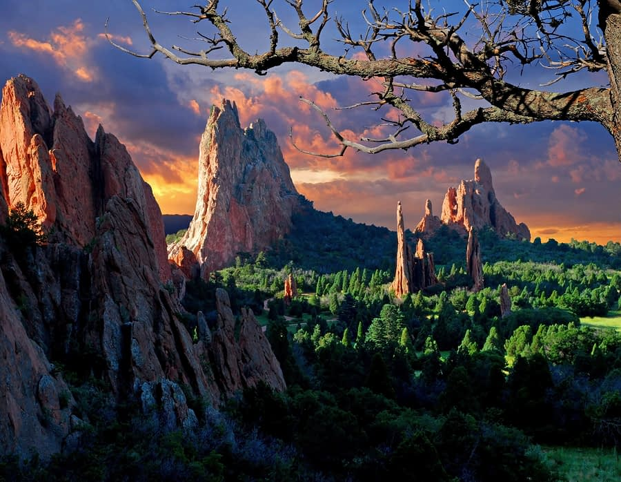 Morning Light at Garden of the Gods, Colorado Springs, Colorado