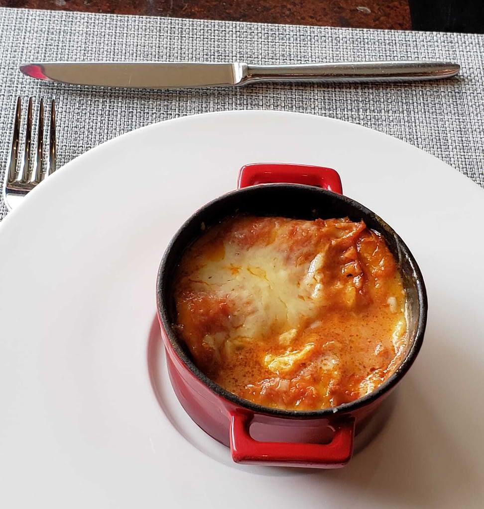 Lasagna, Senso Restaurant, Mandarin Oriental Hotel, Santiago, Chile