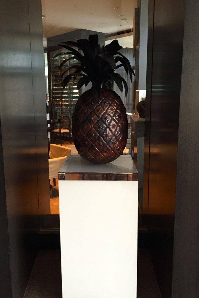 Pineapple Sculpture, The French Kitchen, Grand Hyatt Tokyo, Roppongi Hills, Japan