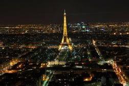 Skyline at Night, Paris, France