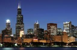 Skyline at Night, Chicago, Illinois