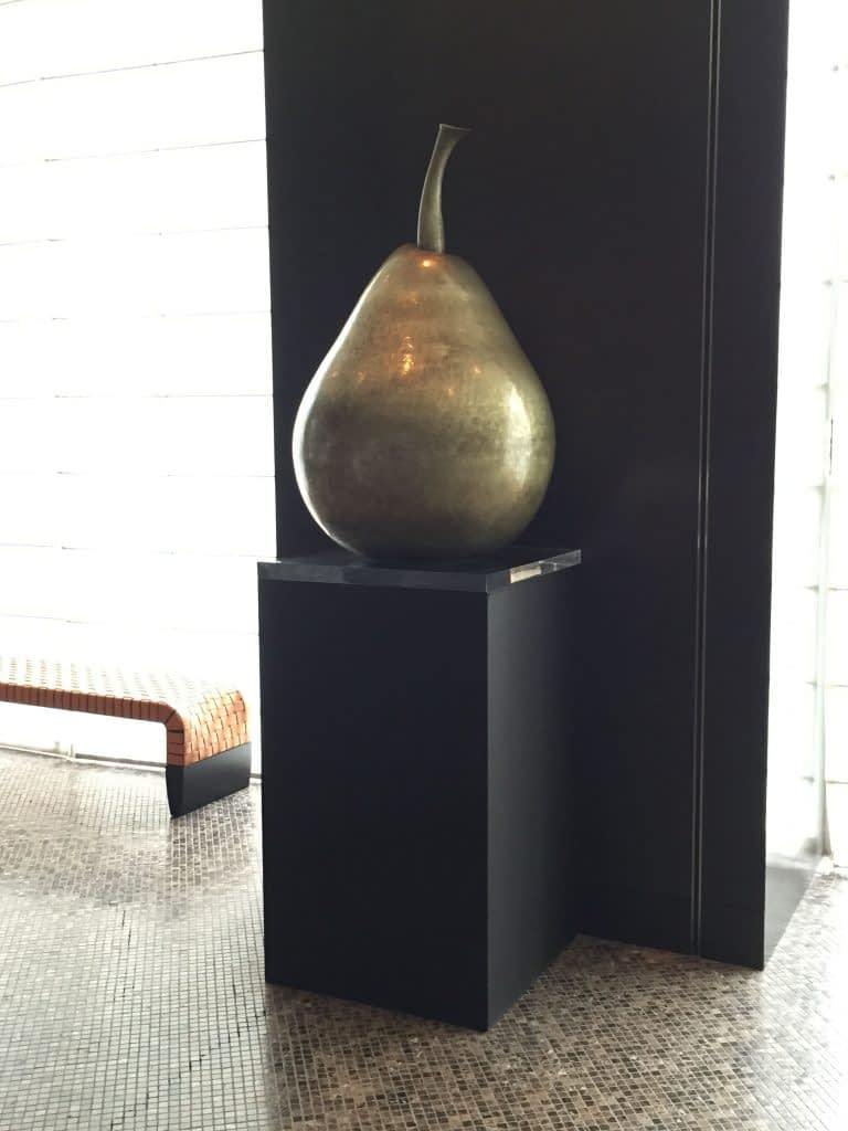 Pear Sculpture, The French Kitchen, Grand Hyatt Tokyo, Roppongi Hills, Japan