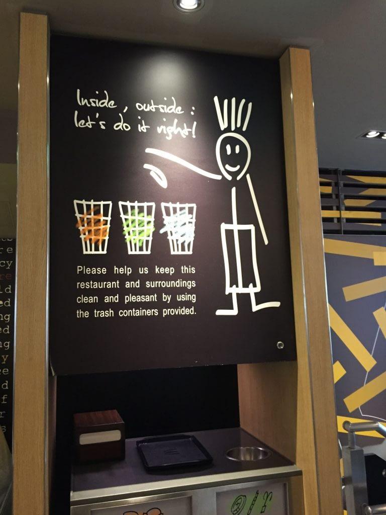 Sign For Proper Behavior In English At McDonalds Shibuya Tokyo Japan